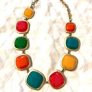 Rainbow chunk necklace